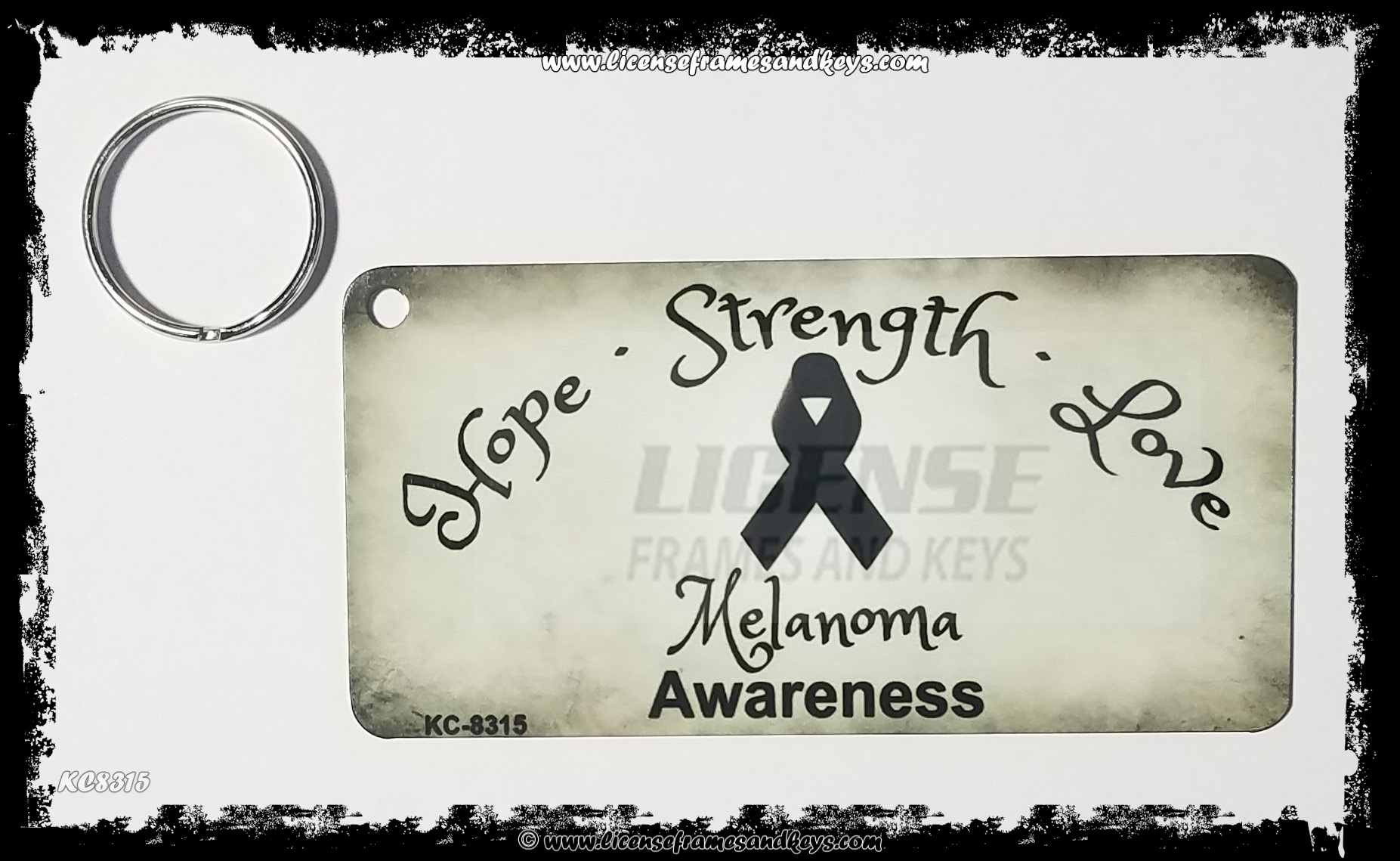LFK-KC MELANOMA CANCER RIBBON