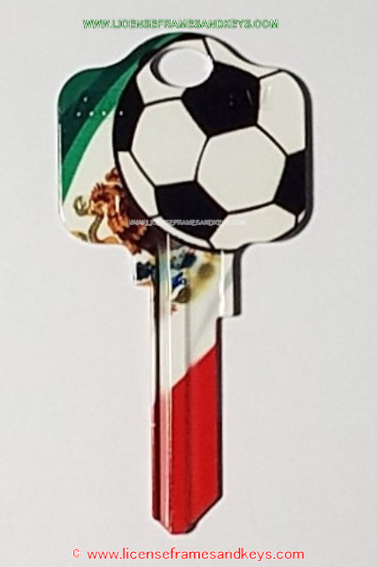LFK-KW1 MEXICO SOCCER, License Frames and Keys